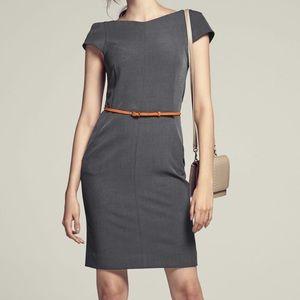 MM Lefleur Nisa Sheath Dress: Charcoal Grey
